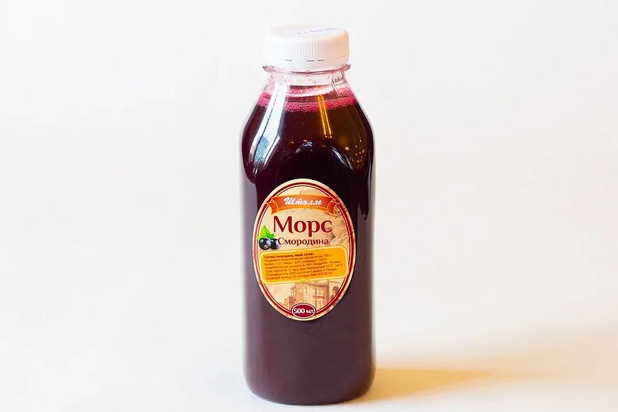 Морс из черной смородины 0,5 л
