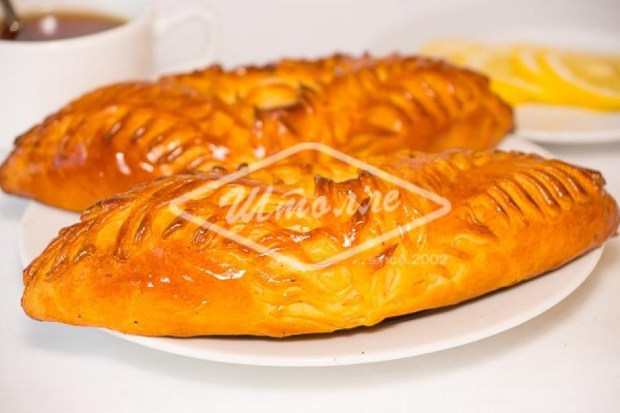 Пирог малый с лососем и тешей